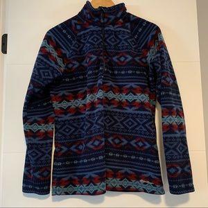 Eddie Bauer   Patterned Fleece Quarter-Zip Jacket